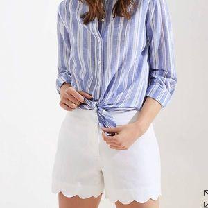LOFT riviera shorts white scallop